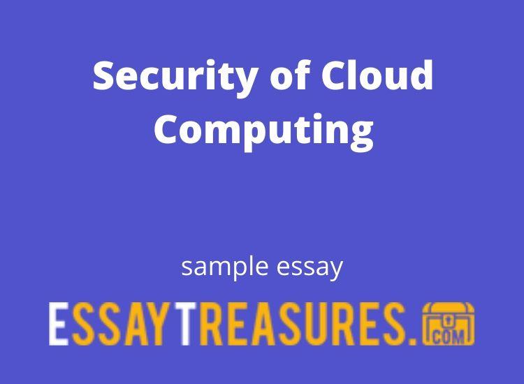 Cloud computing essays