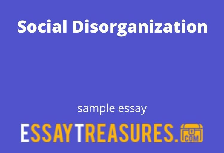 Social Disorganization Question-and-Answer