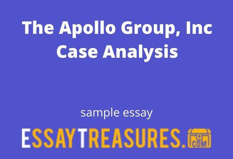 The Apollo Group, Inc Case Analysis