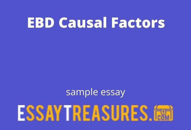 EBD Causal Factors essay
