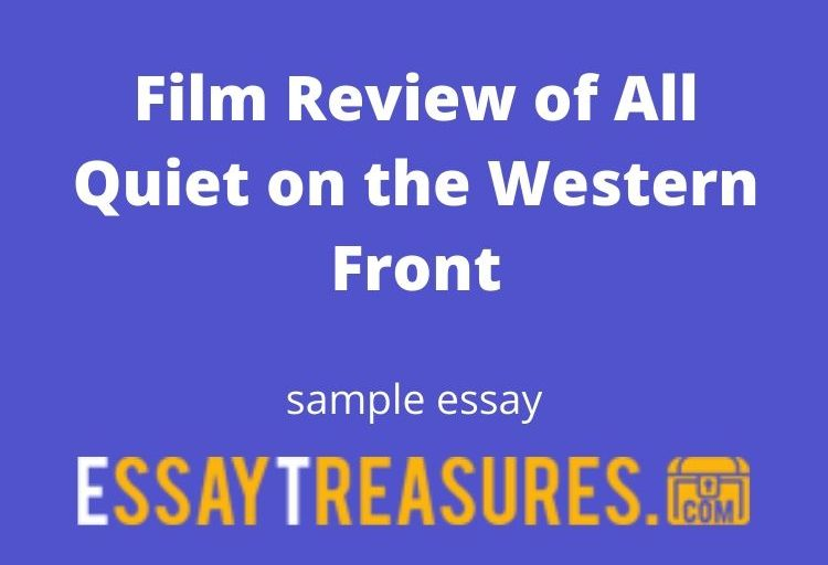 Film Review of All Quiet on the Western Front
